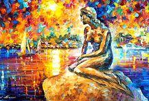 Leonid Afremov Tabloları / Coşkulu renkleri ve hareketli spatula darbeleri ile Leonid Afremov tabloları resmen bakanın gözünü gönlünü açıyor. Kendine has tarzıyla her tablosu karnaval havasında, her tablosu cıvıl cıvıl...