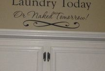 Laundry Room Decor  / Working on my Laundry Room / by Toni Smelley