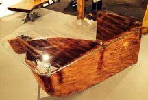 New root office desk created by Neil Scott Furniture. / Unique office desk!