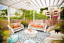 Lovely outdoor living areas
