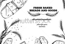 Bakery and bread design template