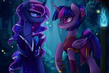 Princesses Luna and Twilight Sparkle