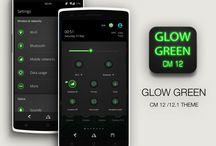 Glow Green CM13 CM12.x Theme v1.9