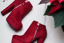 ★ Αfroditi || Μποτάκι Velvet Κόκκινο, Ταμπά & Μαύρο -> 32€