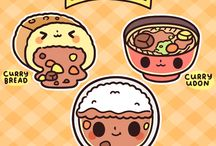 Doodle japanese foods