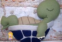 Tartarugas em feltro