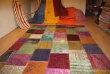 OVERDYED PATCHWORK CARPET