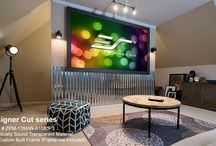 Acoustically Projection Screens