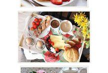 Breakfast In Bed / lots of great breakfast foods plus some cute tray set ups for serving... breakfast in bed  / by Brenda Lester