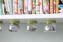 Tiny sewing space