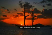 sunset pictures flores and komodo