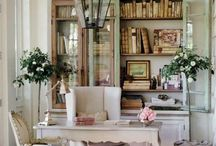 Home Office / Putting together ideas to create a little office space for my blogging. I love the idea of shabby chic!