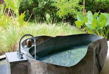 Baths outdoors / Bathing outdoors