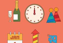 New Year vectors and backgrounds / Free vector images about New Year celebrations.