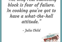 Sisters Under Pressure Quotes / Inspirational and beautiful quotes for the kitchen and everyday life.