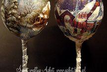 ποτήρια χριστουγεννιατικα