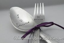 Handstamped Cutlery makes / Handmade Hand stamped items from Handmade with Love Designs  https://www.etsy.com/uk/shop/HWLD?ref=hdr_shop_menu