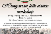 Hungarian Folk Dance teaching with Hunique Dance in London! / If you are a beginner, advanced or professional dancer or someone who simply just enjoys a bit of dancing, then we look forward to seeing you on one of our rehearsals.<   Currently, we teach dances from the regions of Mezőség, Kalotaszeg, Küküllő, Rábaköz. The rehearsals are two hours long, and start with an approximate 20-30 minutes warm-up and continue with fun-filled dancing and more dancing…. We recommend if it is possible that you wear clothes and footwear suitable for dancing.