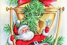 vintage/ malarstwo Boże Narodzenie