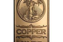 Copper Bullion Bars / Copper bars from various manufacturers are available online at TexasBullion.com.  Check out our excellent pricing on all copper bullion and take advantage of the opportunity to boost your precious metals portfolio.