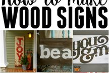 how to make wood signs