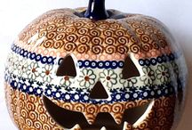 Pottery Ceramics - Halloween / Decorated bisque or clay shapes with a Halloween theme.  #PYOP #pottery #ceramics #china #porcelain.  Follow us on Facebook: https://www.facebook.com/TheGuildOfCeramicStudios
