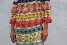 vestido de crochet de colores