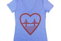 San Francisco Tees / san francisco inspired tee shirts