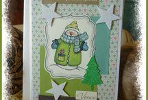 Cartes de Noël et de voeux pour le Nouvel An