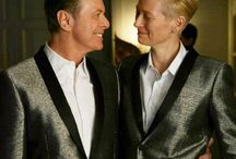 David and Tilda ❤ / The Story of David Bowie and Tilda Swinton.  They are so the same and so beautiful ❤