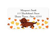 Cute Dachshund Address Labels