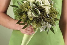 green wedding flowers / by Toni Smith