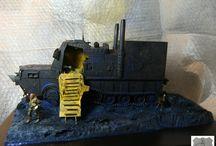 Traque - la - Mort / Serge Brussolo tribute dioramas fantasy vehicles 1/35 scratch building  Almoha Lisiah Eggle Killer  www.tapir-models.ro