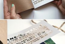 Creative wedding invitations  / Creative and quirky wedding invites