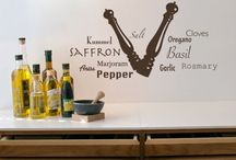 Kitchen, Dining and/or Bar Decals / The kitchen is where most familes gather so why not make it a space that invokes memories, conversations, inspiration? Our Kitchen Decals are a wonderful addition to any kitchen and better yet, easy to wipe clean!  These can also apply to the dining or bar area at home or a restaurant.