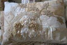 Vintage fabric and Lace