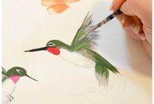 Como pintar Colibries