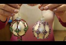 Beaded Xmas Ornaments
