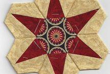 Babky - Hexagon / šití přes papírové různých tvarů