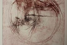 Ana Zanic Printmaking / drypoint intaglio contemporary prints