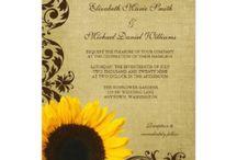 Sunflower Invitations / Lovely Sunflower wedding invitations, Sunflower save the date, Sunflower stationery, #Sunflowers #Sunflowerwedding #weddings #invitations #savethedate
