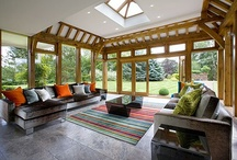 Sunrooms Portfolio - John Charles Interiors www.johncharlesinteriors.co.uk  / For me, a successful conservatory is one that looks like it's always been there, and it's meant to be there. It blends in with the architecture of the house, both in style and proportion. It is thoughtfully situated with regards to both access from within the house, and its place in the garden. It doesn't stick out like a sore thumb, but its perimeters are softened by shrubs and plants, thus making it the perfect halfway house between indoor and outdoor living #sunroom #interiors #home