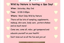 West Islip Wild by Nature's Spa Day Event! / Join us at our West Islip Wild by Nature for our Spa Day Event!