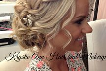 Lindsey's wedding hair