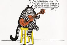 """""""Cap"""" Kliban - Cartoonist / """"Cat.  One hell of a nice animal; often mistaken for a meatloaf."""" / by Linda Borger"""
