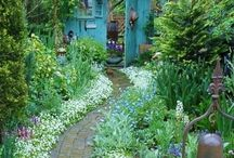 Garden+Porch / Outdoor havens -- from pools and porches to gates and gardens -- inspiration abounds. Hidden paths are a bonus and rustic charm a must. / by Rose Kausler