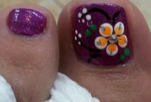 Painted toe art