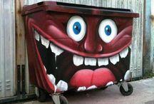 Pojemniki, kosze na śmieci, bins, / Pojemniki na odpady, kosze na śmieci, bins,