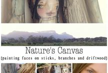 Natures Canvas online class / This is a one week course on exploring nature's canvas and your imagination.