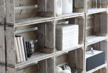 Veilingkistjes/pallets / Boekenkastje